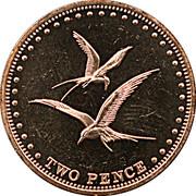2 pence Elizabeth II (Île Gough) – revers