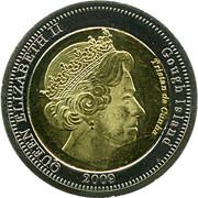 25 pence Elizabeth II (Île Gough) – avers