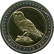 25 pence Elizabeth II (Île Gough) – revers