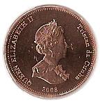 ½ penny Elizabeth II – avers