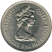 25 pence Jubilé d'argent (cupronickel) – avers
