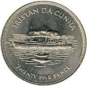 25 pence Jubilé d'argent (cupronickel) – revers