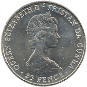 25 pence Mariage du prince Charles et de Diana Spencer (cupronickel) – avers