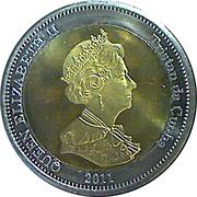 25 pence Elizabeth II - Nightingale Island – avers
