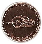 ½ penny Elizabeth II – revers