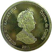 20 pence Elizabeth II (Nightingale Island) – avers