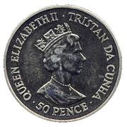 50 Pence - Elizabeth II (3rd portrait; Wedding Anniversary) – avers
