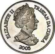 1 Crown - Elizabeth II (4th portrait; Gough Island) – avers
