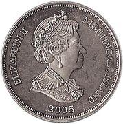 1 couronne - Elizabeth II (La Reine mère) -  avers