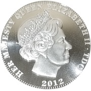 5 Pounds - Elizabeth II ''Una and the lion'' Silver proof – avers