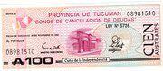 100 Australes (Province of Tucuman) – avers