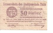 50 Heller (Tulln) – avers