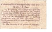 50 Heller (Tulln) – revers