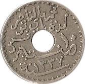 10 centimes Muhammad al-Nasir (protectorat français) -  avers