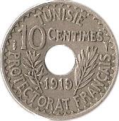 10 centimes Muhammad al-Nasir (protectorat français) -  revers