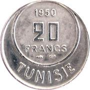 20 francs Muhammad al-Amin (protectorat français) -  revers