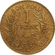 1 franc (chambre de commerce) -  revers