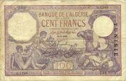 100 Francs 1924-1936 – avers