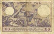 100 Francs 1924-1936 – revers