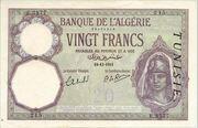 20 Francs 1929 - 1941 – avers