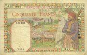50 Francs 1938 - 1942 – avers