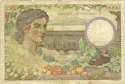 1000 Francs  1942 – revers