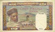 100 Francs 1939 - 1941 – avers