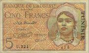 5 Francs 1944 – avers