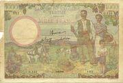1000 Francs 1946 – avers
