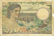 1000 Francs 1946 – revers