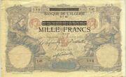 1000 Francs 1942-1943 – avers