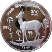500 manat (Gazelle à goitre) – revers