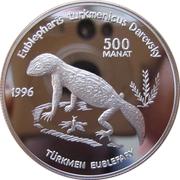 500 manat  Gecko – revers