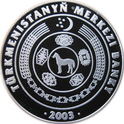 500 manat  Gurbandurdy Zelili – avers