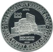 500 manat (Ahal) – revers
