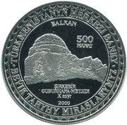 500 manat (Balkan) – revers