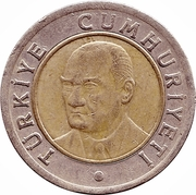 1 yeni lira -  avers