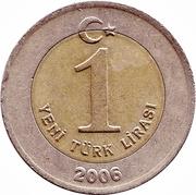 1 yeni lira -  revers