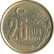 25 bin lira (rose) -  revers
