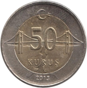 50 kuruş -  revers