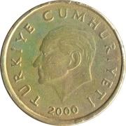 50 bin lira (laiton nickelé) -  avers