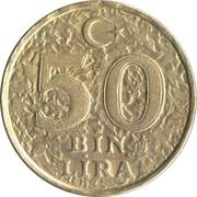 50 bin lira (laiton nickelé) -  revers