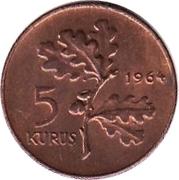 5 kuruş  (bronze) – revers