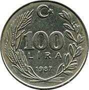 100 lira -  revers