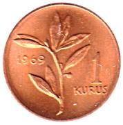 1 kuruş (bronze) – revers