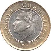 1 lira -  avers