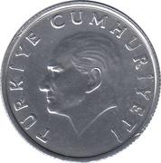 10 lira (étoile à droite) -  avers