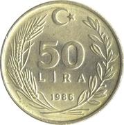 50 lira -  revers