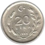 20 lira -  revers