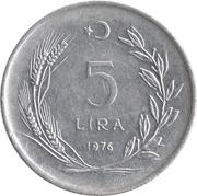 5 lira (grand module) -  revers